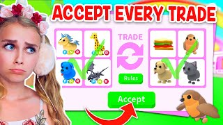 ONLY ACCEPT The TRADE CHALLENGE In Adopt Me! (Roblox)