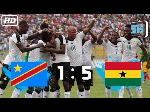 Congo Vs Ghana 1-5 World Cup Qualifiers All Goals And Highlights September 5,2017