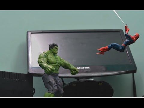Spiderman Stop Motion Action Video Part :- Hulk Vs Krissh  |Hrithik Roshan as Krissh|