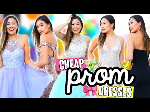 TRYING ON CHEAP PROM DRESSES FROM EBAY/AMAZON