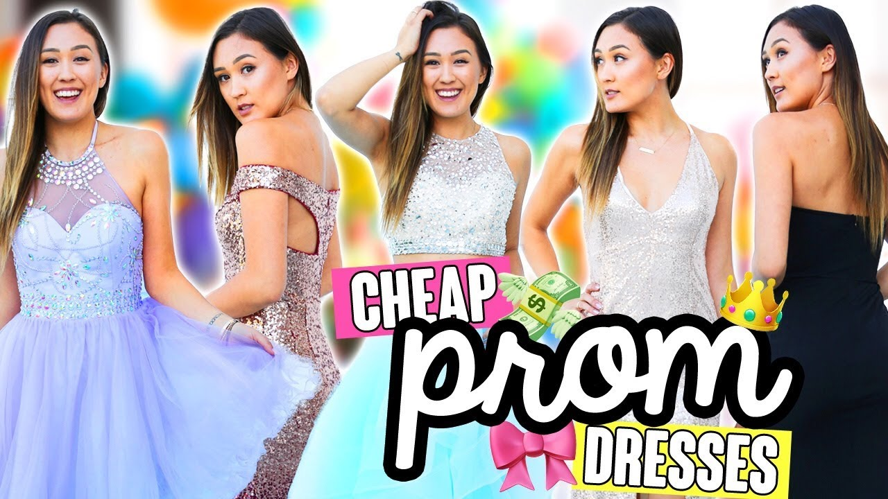 TRYING ON CHEAP PROM DRESSES FROM EBAY/AMAZON - YouTube