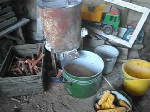 очистка початков кукурузы от