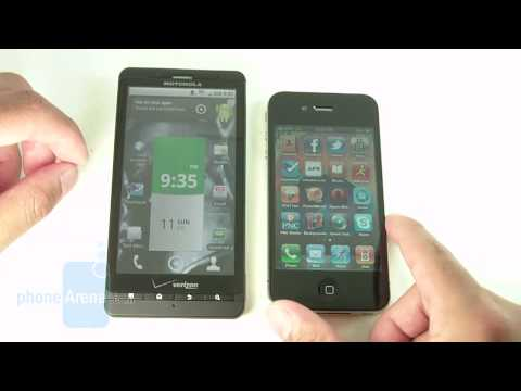 Motorola DROID X vs. iPhone 4