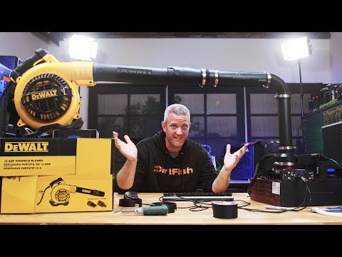 We tried cooling a CPU with a LEAF BLOWER...
