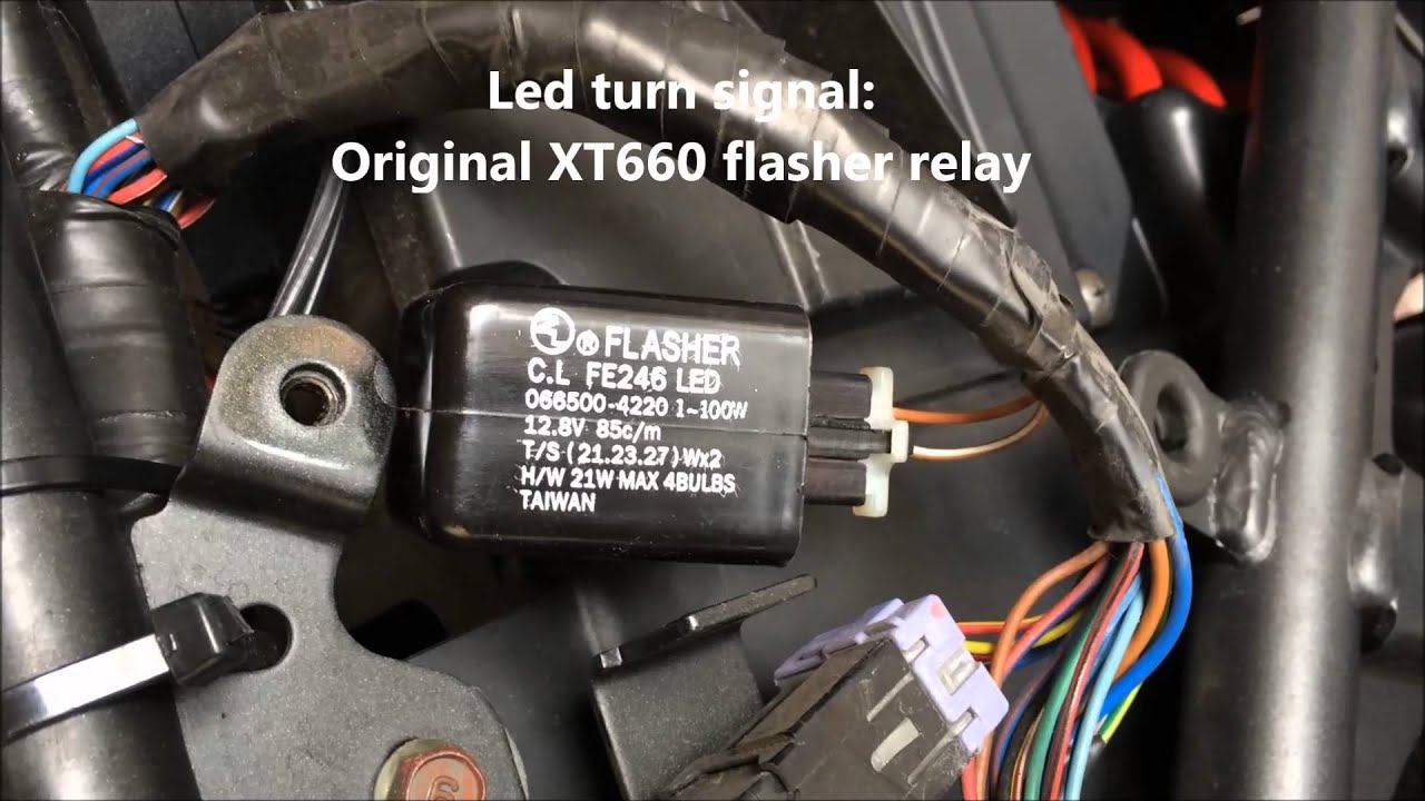 Yamaha Xt660x Installing A Led Flasher Relay Youtube