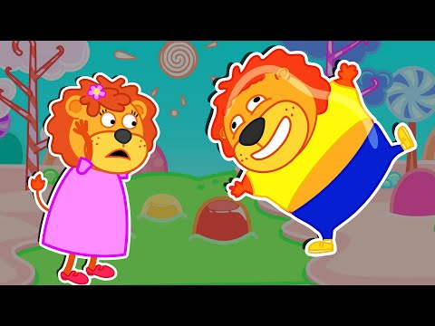 Lion Family Official Channel | Gummy Lions | Cartoon For Kids
