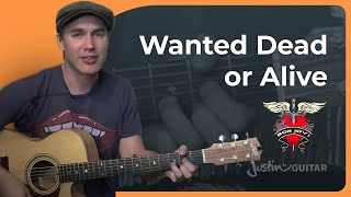 vuclip Wanted Dead Or Alive - Bon Jovi - Easy Acoustic Song Guitar Lesson (BS-702) How to play