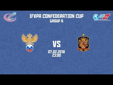 iFVPA Confederation Cup 2018   Group B   Russia - Spain
