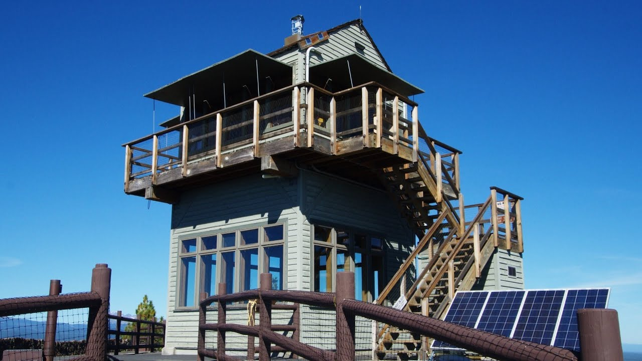 Active Fire Lookout Tower On Lava Butte Newberry