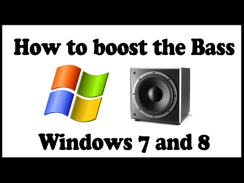 How to Boost the Bass on Windows 7 and 8
