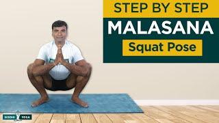 Malasana (Squat or Garland Pose) Benefits, How to Do & Contraindications by Yogi Ritesh