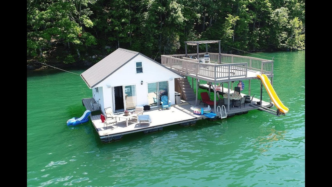 Dock Floats For Sale 480sqft Floating Cottage For Sale On Norris Lake Tn Sold