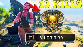 A Fortnite Bot Gets 13 Kill Solo Win In Blackout BO4!