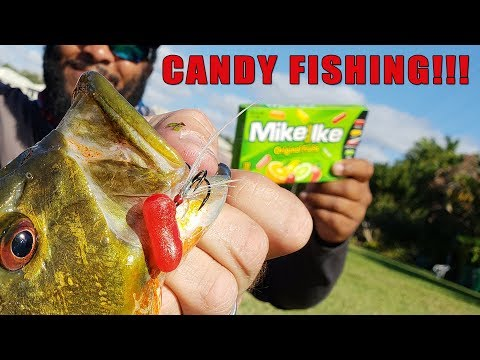 Catching Fish With CANDY!!! DIY Candy Lure Fishing Challenge!