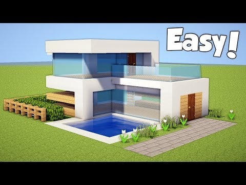 Minecraft: How to Build a Small & Easy Modern House - Tutori