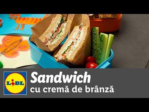 Sandwich cu crema de branza si bacon • reteta Bucataria Lidl