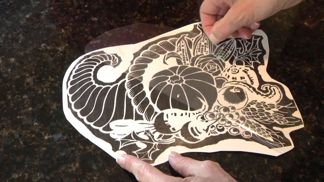Pumpkin carving pattern fast transfer method youtube