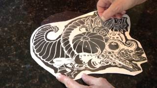 Pumpkin Carving Pattern - Fast Transfer Method