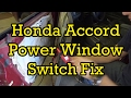 Honda Accord Power Window Switch Diagnosis and Replacement 1997 (1994-1997 Similar)