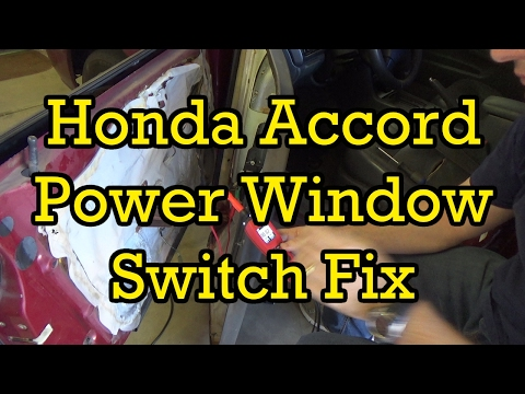 honda accord power window switch diagnosis and replacement  1997 honda accord power window wiring diagram #7
