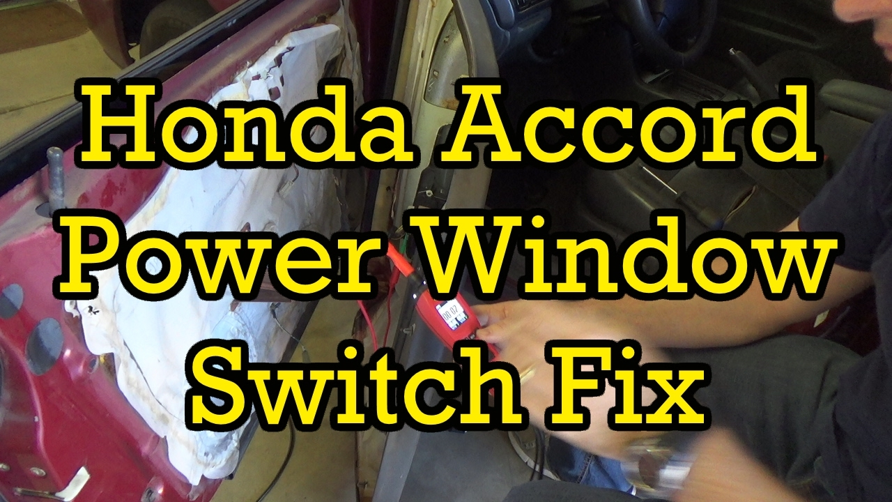 Honda Accord Power Window Switch Diagnosis And Replacement 1997 Maintenance Byp Wiring Diagram 1994 Similar