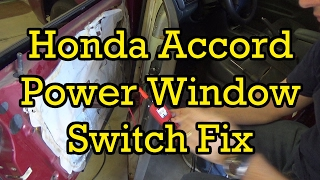 honda accord power window switch diagnosis and replacement 1997 (1994-1997  similar) - youtube  youtube
