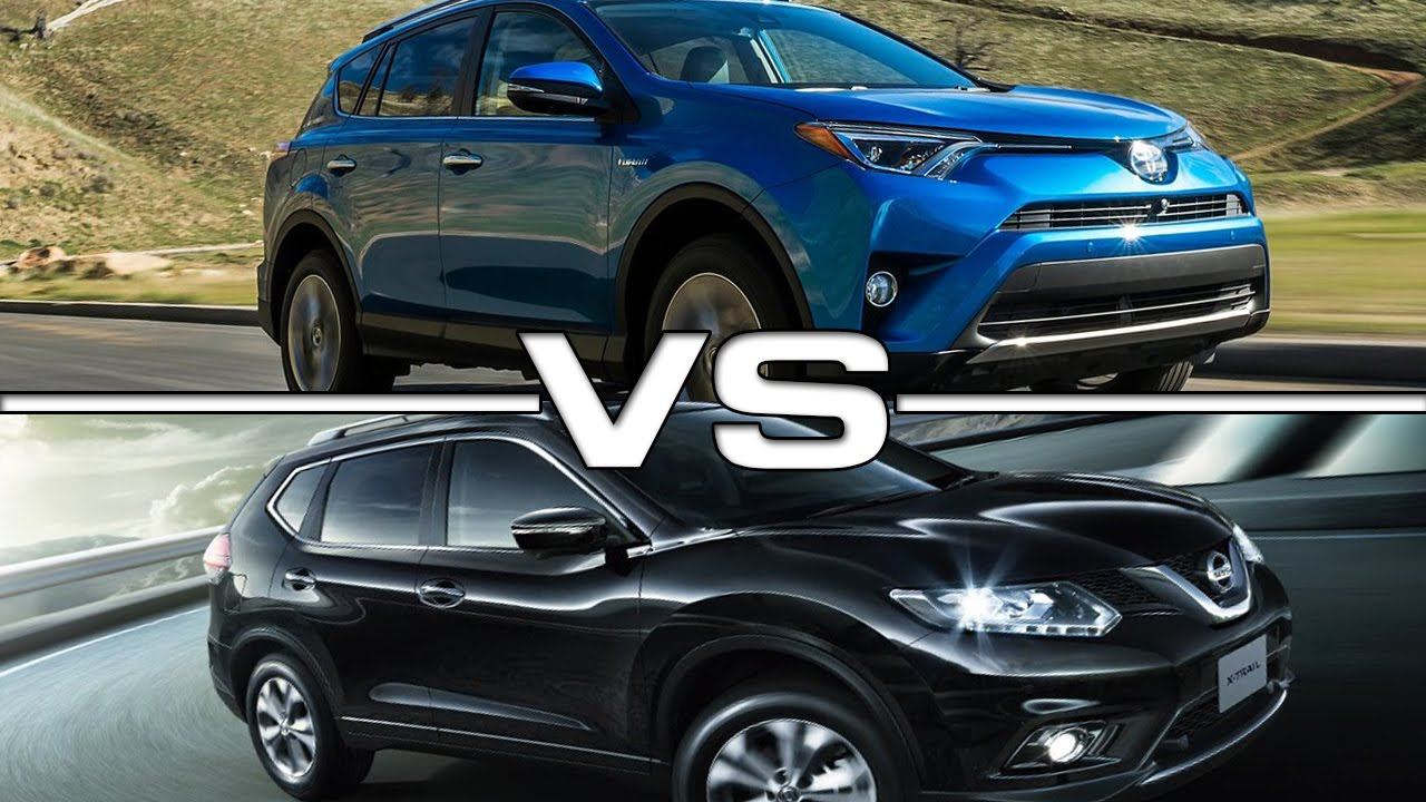 2016 Toyota Rav4 Vs 2016 Nissan X Trail Youtube