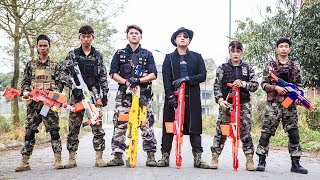 LTT Nerf War : Couple Police SEAL X Warriors Nerf Guns Fight Criminal Group Dr Lee Armed