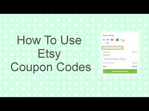 How To Use Etsy Coupon Codes