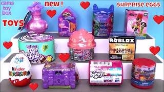 Unboxing Surprise TOYS Kinder NUM NOMS My Little Pony Paw Patrol Roblox LPS PJ MASKS