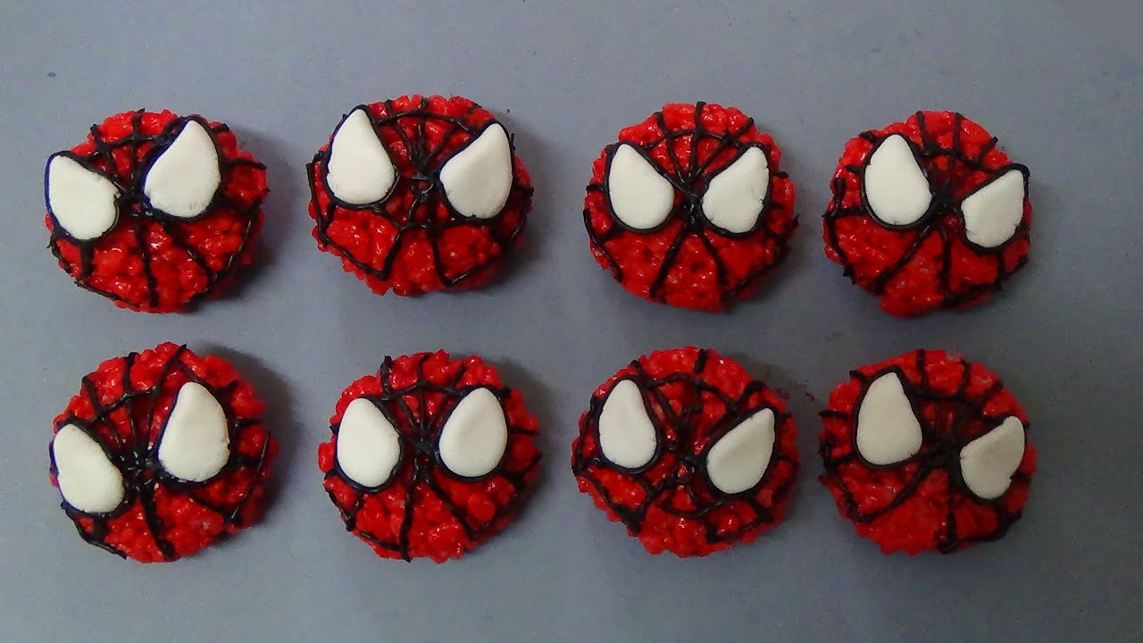 how to make spiderman rice pops
