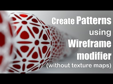 Create Patterns using wireframe modifier