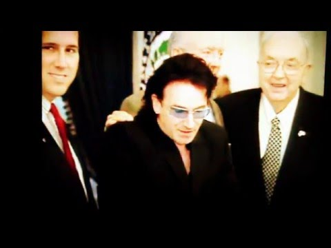 Senator Jesse Helms (Senator NO) and Bono of U2