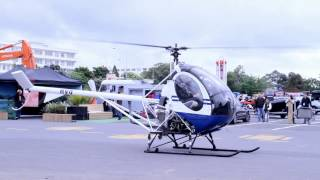 Sikorsky Schweizer 269C-1 Start up and take off from Big Boys Toys 2012