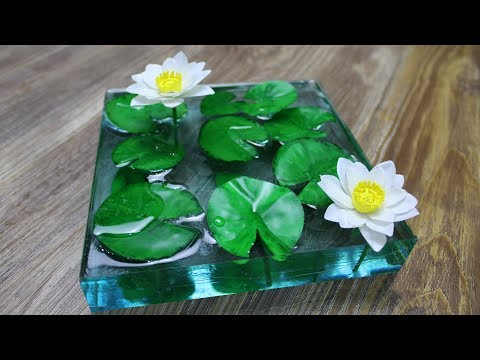 How to Make Water Lily Pond | Resin Art | Diorama