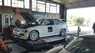 Live Mapping Ford Escort Cosworth Track Car on the Dyno