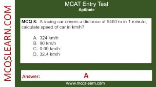 MCAT Entry Test Preparation - MCQsLearn Free Videos
