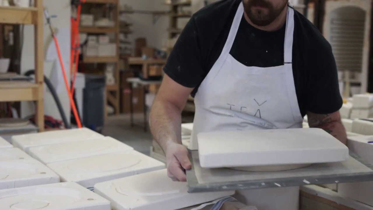 Making a Slipcast Porcelain Pottery Plate