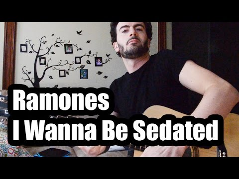 Ramones I Wanna Be Sedated Guitar Tutorial Youtube