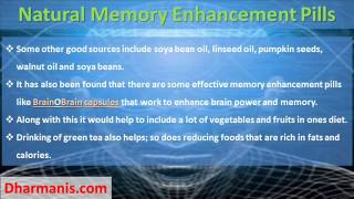 Do Natural Memory Enhancement Pills Helpful To Increase Brain Power?
