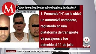 ¿Cómo fueron detenidos los implicados en caso Norberto Ronqullo?