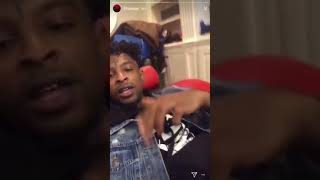 21 Savage Hangs out With His Kid