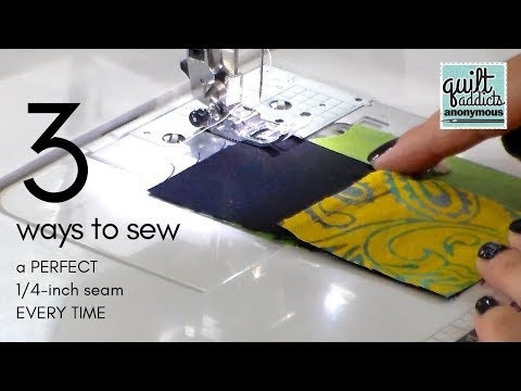 How to sew a perfect quarter-inch seam every time
