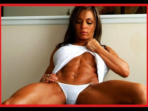 Body building woman sexy duly