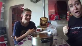Обед салат лапша и колбаса 16:35 дня