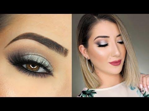 Black and Silver Smokey Eye Makeup Tutorial   Huda Beauty Smokey Obsessions