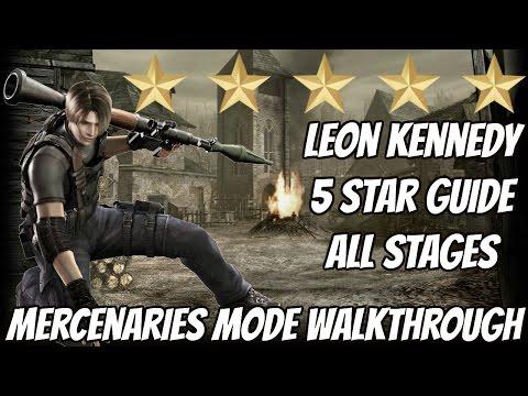 Resident Evil 4 HD - Leon ALL Stages   5 Stars Playthrough (Handcannon Unlock)