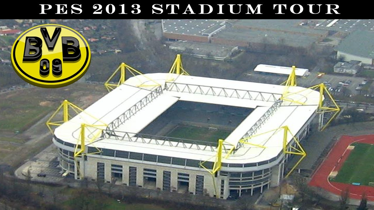 pes 2013 stadium tour signal iduna park borussia dortmund youtube. Black Bedroom Furniture Sets. Home Design Ideas