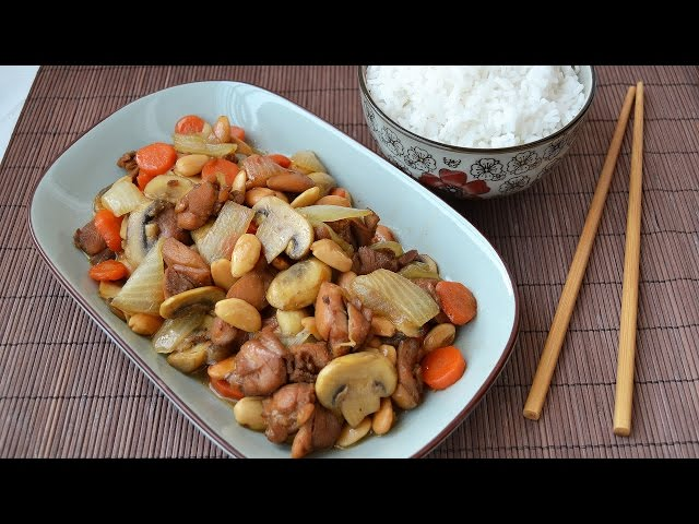chinese braised chicken and almonds recipe