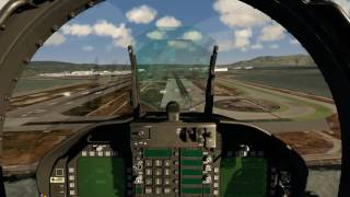 Funny F-18 Landing at San Francisco [Aerofly FS 2]